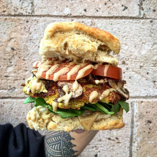 The Coronado - vegetarian breakfast sandwich